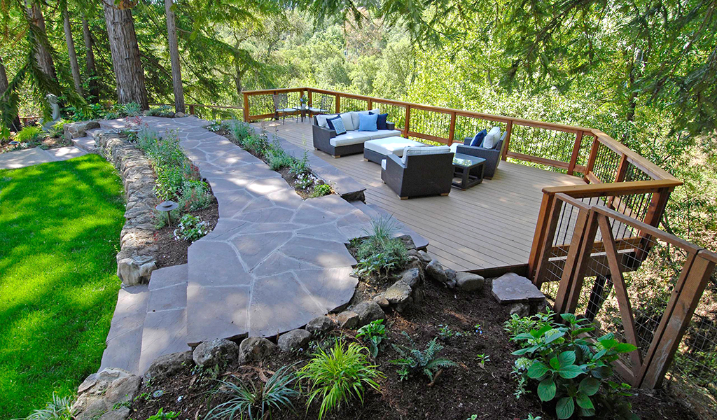 Miller Landscape Architecture shaded deck